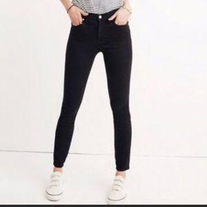 Madewell Black Skinny High Riser Jean